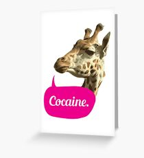 Cocaine. Greeting Card