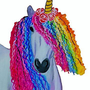Psychedelic Funky Unicorn by IvysCraftShop