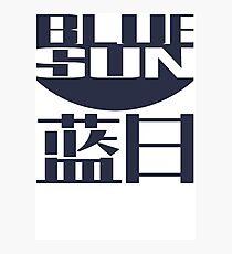 Blue Sun Firefly Photographic Print