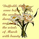Daffodils That Come Before The Swallow Dares Shakespeare Quote by taiche