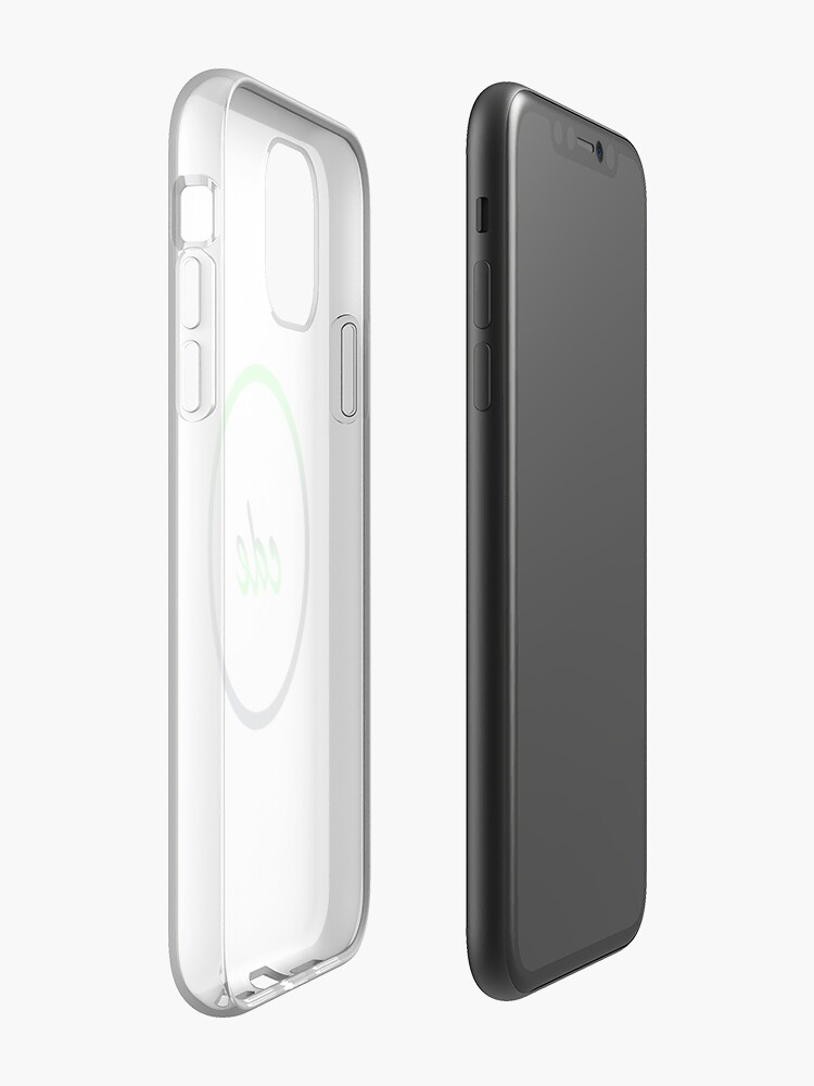 etui folio iphone xr , Coque iPhone « Code vert cercle », par jsawdon