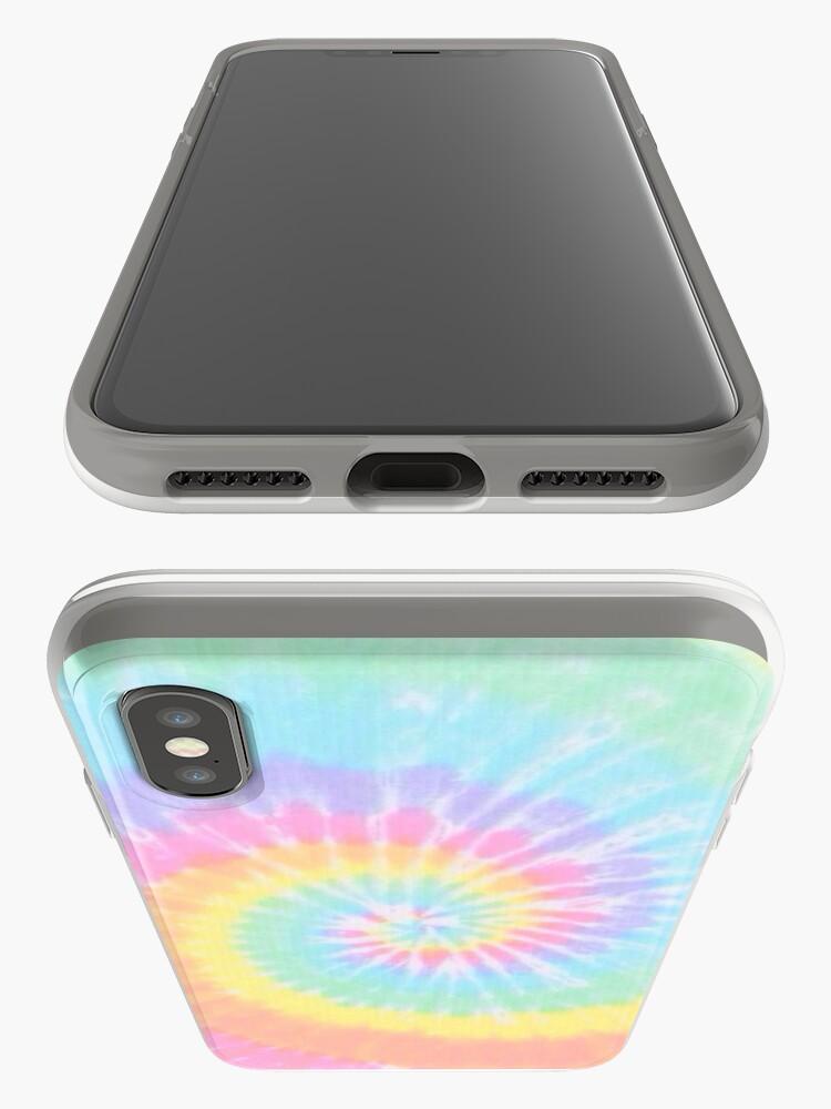 Alternate view of Rainbow tie dye iPhone Case & Cover