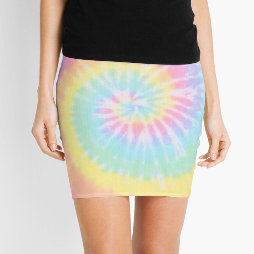 Rainbow tie dye Mini Skirt