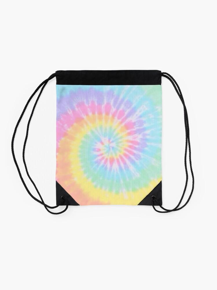 Alternate view of Rainbow tie dye Drawstring Bag