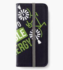 Runs On 100% Renewable Energy Environmentalist Gifts iPhone Wallet/Case/Skin