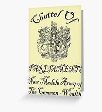 Property of New Model Army Greeting Card