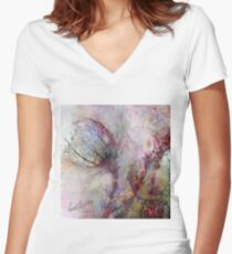 Qualia's Meadow L Women's Fitted V-Neck T-Shirt