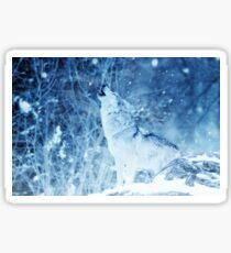 Howling Arctic Wolf Sticker