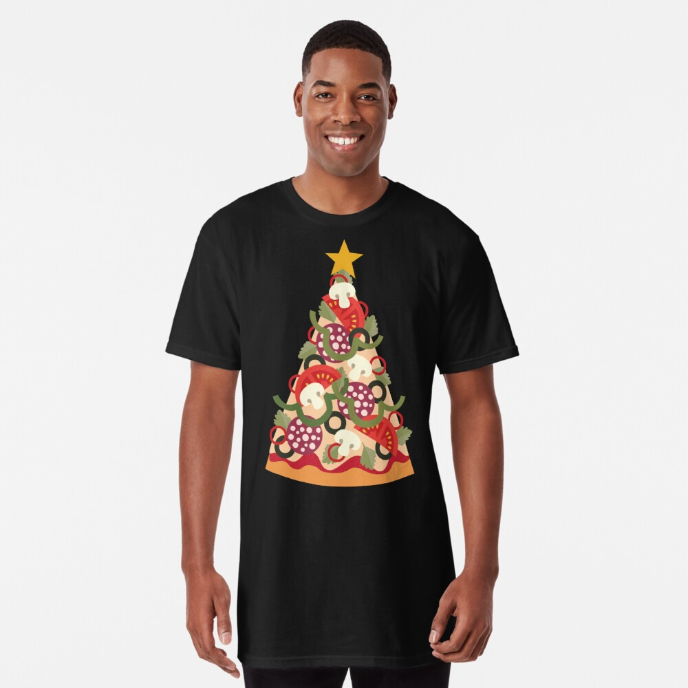 Pizza auf der Erde - Pepperoni Longshirt