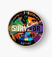 Survivor Logos Clock Clock