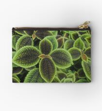 Green Ric Rac Edging Studio Pouch