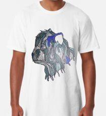 blue pompom Long T-Shirt