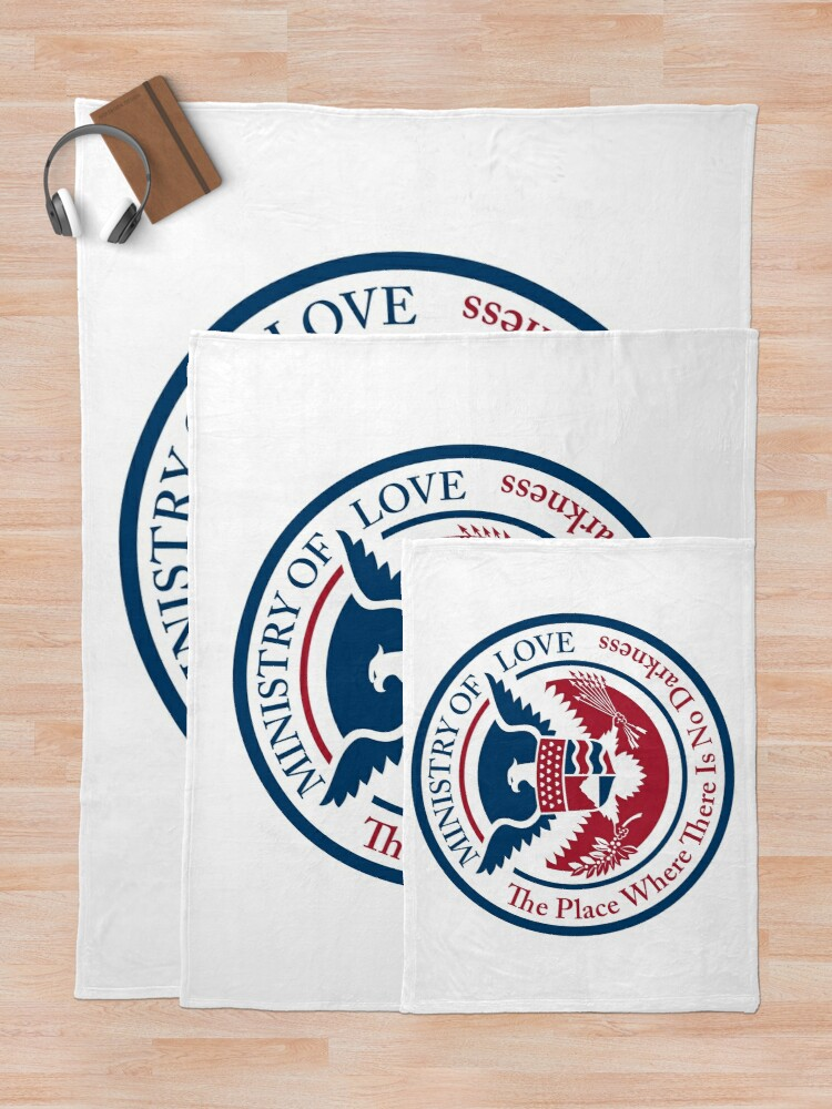 Alternate view of ministry of love, official seal Throw Blanket