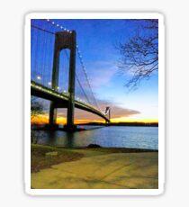#Verrazano-Narrows #Bridge #VerrazanoNarrowsBridge #water architecture suspensionbridge travel river sky city Sticker