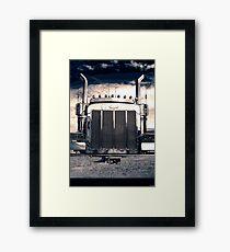Peterbilt at Night Framed Print