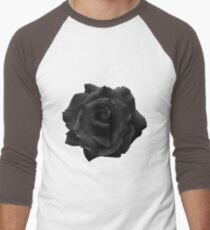 Single Large High Resolution Black Rose. T-Shirt