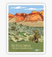 Vintage Travel Poster - Red Rock Canyon, Nevada Sticker