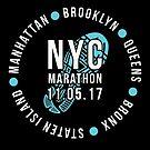 NYC New York City Marathon 2017 by oddduckshirts