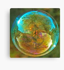 Blue Bubble Canvas Print