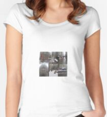 Lower Manhattan, New York, NY Women's Fitted Scoop T-Shirt