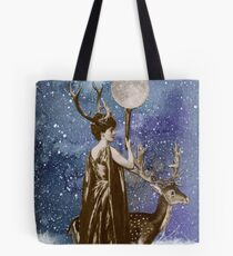 Winter Solstice Moon Goddess Tote Bag