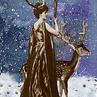 Winter Solstice Moon Goddess by WinonaCookie