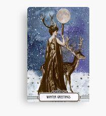 Winter Solstice Moon Goddess Canvas Print