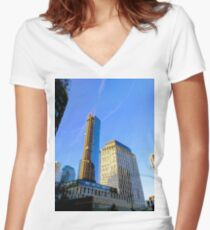 New York, NY Women's Fitted V-Neck T-Shirt