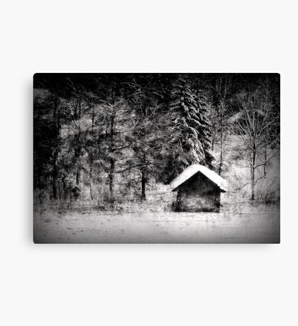 Another hut at the lake Canvas Print