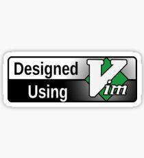 Designed using Vim Sticker