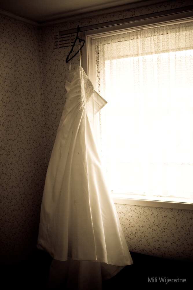 The wedding dress by Mili Wijeratne
