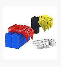 Dali Toy Bricks Photographic Print