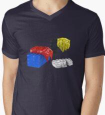 Dali Toy Bricks Men's V-Neck T-Shirt