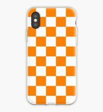 Orange & White iPhone Case