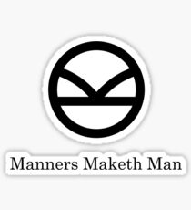 Kingsman Secret Service - Manners Maketh Man Black Sticker