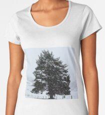 Winter scene Women's Premium T-Shirt