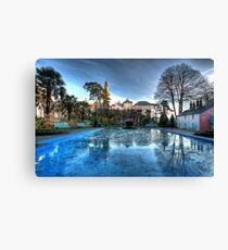 Icy Portmeirion Canvas Print