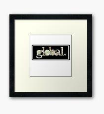 global. Framed Print