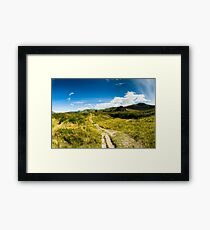 Rural scenery at Dunedin Framed Print