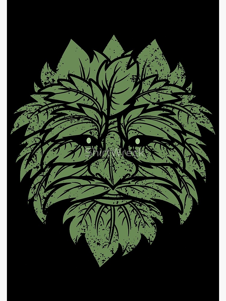 TRADITIONAL CELTIC WICCA PAGAN GREENMAN T-SHIRT AND MERCHANDISE | Poster