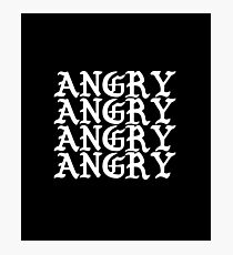 Angry - Mood, Angry, Annoyance, Displeasure, Anger, Intense Feeling, Senses, Emotion Photographic Print