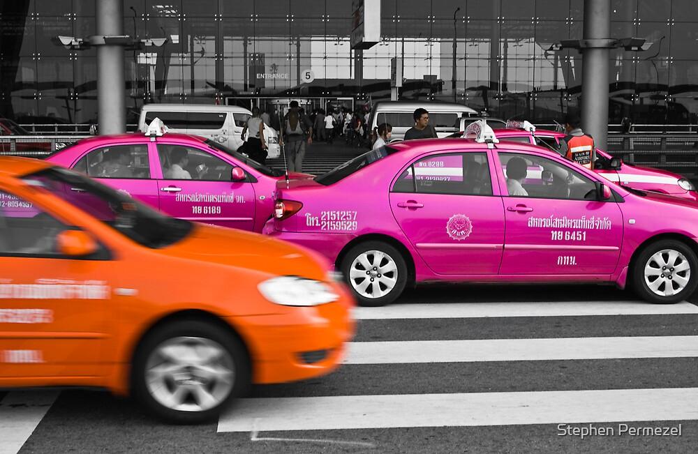 Taxis - Suvarnabhumi Airport, Bangkok by Stephen Permezel