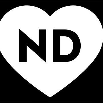 I Love North Dakota State by Chocodole