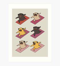 Pugs Warrior  Art Print