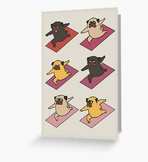 Pugs Warrior  Greeting Card
