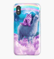 Rainbow Llama - Cat Llama iPhone Case