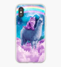 Rainbow Llama - Cat Llama iPhone Case