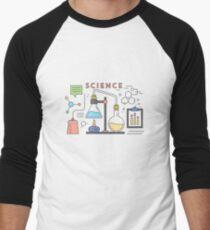 Science Vector Icons Elements Men's Baseball ¾ T-Shirt