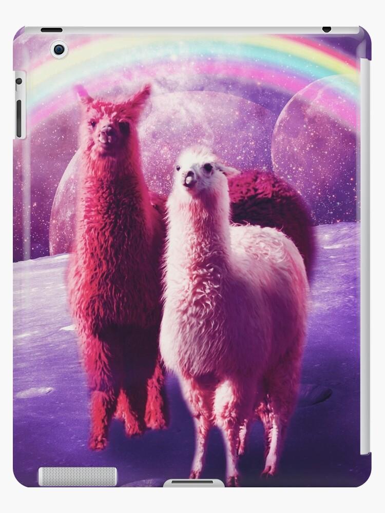 Verrücktes lustiges Regenbogen-Lama im Raum von SkylerJHill