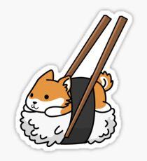 Funny Sushi Shiba Inu Sticker